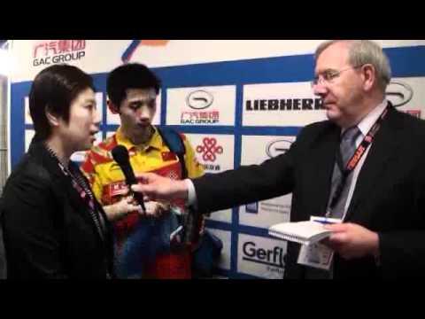 ZHANG Jike interview after WTTC 2011 rotterdam games