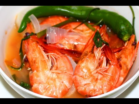 How To Cook Sinigang Na Hipon Recipe - English video