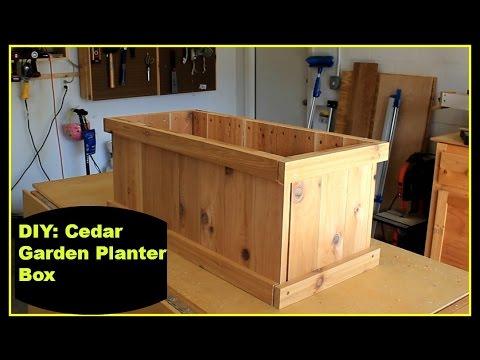 DIY: Cedar Garden Planter Box - YouTube