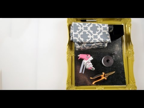 DIY Magnetic Makeup Board Organizer | Makeup Tips | DIY Beauty
