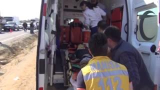 Salihli'de trafik kazası 4 yaralı