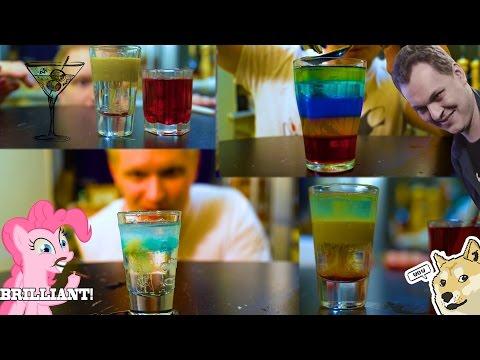 Алкогольные слоеные коктейли (18+)