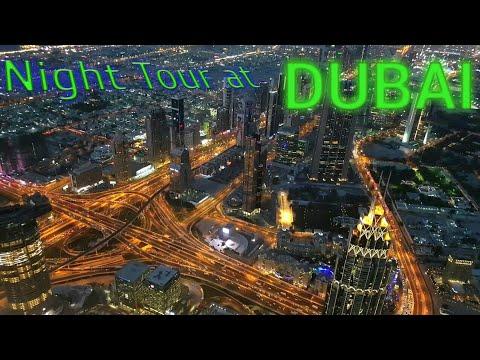 dubai night road view