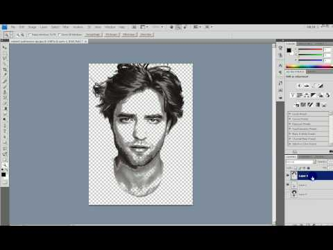 Make portrait from text in Photoshop (Edward Cullen Twilight) Video
