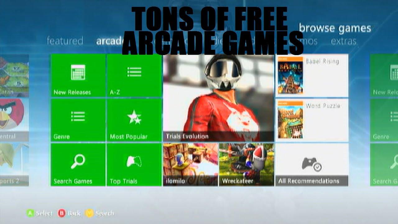 free xbox 360 arcade games 2013