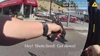Bodycam Footage Shows Police Shootout in Los Angeles, California