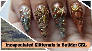 How to Incapsulate glitter in to GEL nails | Part One of my Shallow Straigt nails