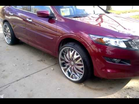Honda Crosstour On 22 Quot Velocity Rims Youtube