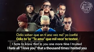 Te Bote Remix - (Lyrics) English / Spanish