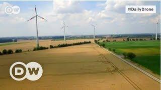 #DailyDrone: Almanya'nın rüzgar çiftlikleri - DW Türkçe