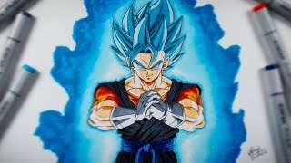 How To Draw Vegito SSJ Blue - Step By Step (Tutorial) - Dragonball Heroes