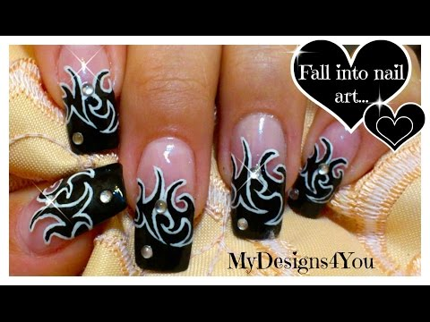Rock Chick, Prom, Tattoo Nail Art Design Tutorial - ♥ MyDesigns4You ♥