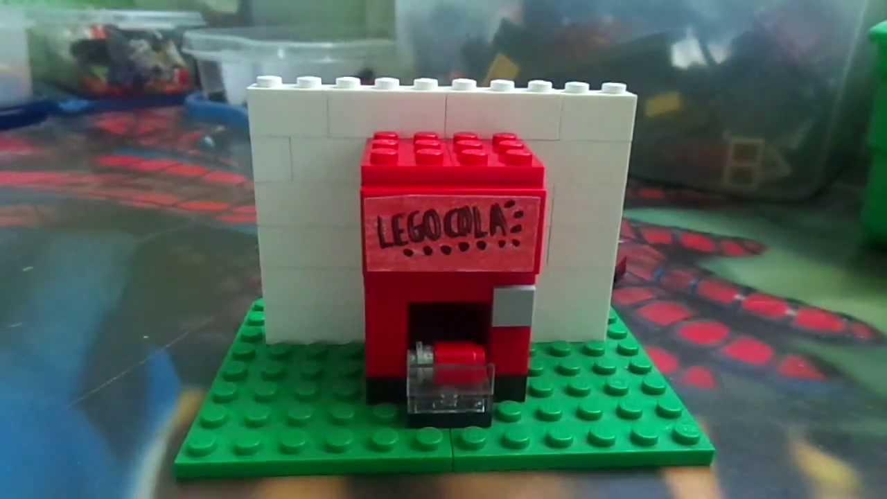 Como Hacer Una Sala De Estar Lego ~ Como hacer una maquina de sodas Lego (Mr P)  YouTube