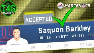 ☑️How to Get Saquon Barkley in Madden 19 for FREE | Cheating the Madden 19 Trade System