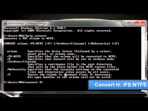 The file is too large for the destination file system - Convert from FAT32 to NTFS