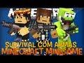 Armas no Mapa do GTA?! - Minecraft Server - Survival com Armas