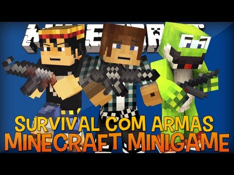 Armas no Mapa do GTA?! - Minecraft Server - Survival com Armas