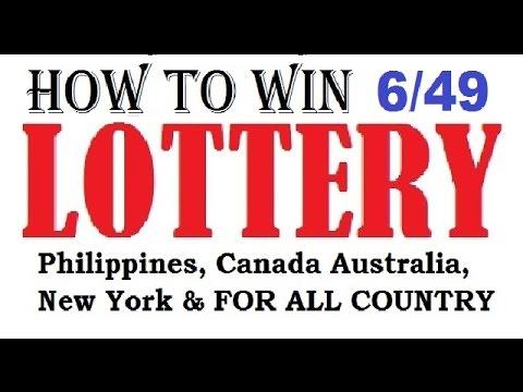 How to win the lottery 6/49 Lotto Jackpot - Guaranteed 100%