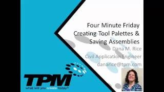 Creating Tool Palettes and Saving Assemblies
