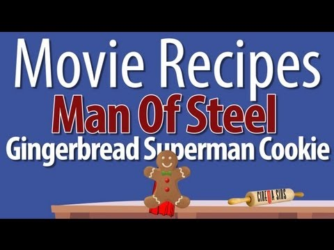 Man Of Steel Gingerbread Superman Cookie - Movie Recipes