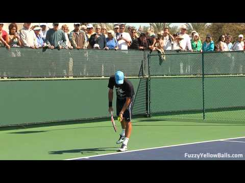 Roger Federer Hitting in High Definition Video