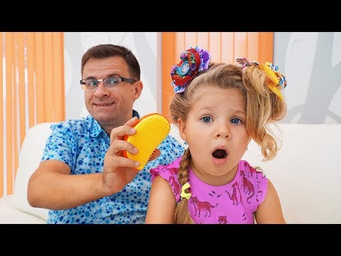 Диана и Папа одни дома Видео для детей / Papa Left Alone With Diana