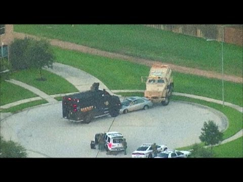 Houston Shooting and Car Chase Ends in Police Standoff