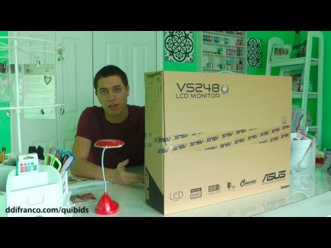 Unboxing: Asus VS248H-P 24-inch LED Monitor (Won on QuiBids)