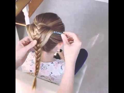 прическа с карандашом коса видео