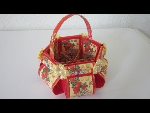 DIY Chinese New Year Floral Basket TUTORIAL 5