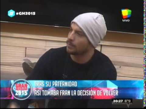 """""""Gran Hermano 2015"""": Francisco explica el motivo de su regreso a La Casa tras el nacimiento de Elenita"""