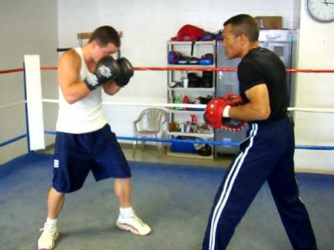 Uppercut & Right Cross Boxing Techniques on mitts w/ Max Skayzer & Rick O'Kane Image 1
