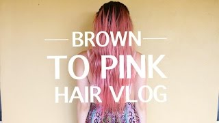 Brown To Pink Hair Vlog!