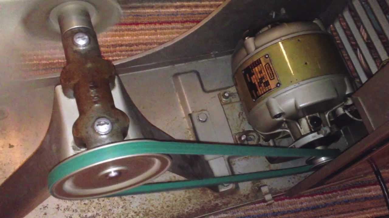 Shaft Driven Ceiling Fan : Kenmore belt driven fan bearing service and running youtube