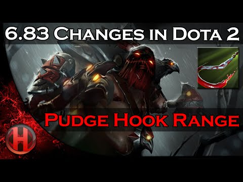 6.83 Changes Dota 2 - Pudge Meat Hook Range