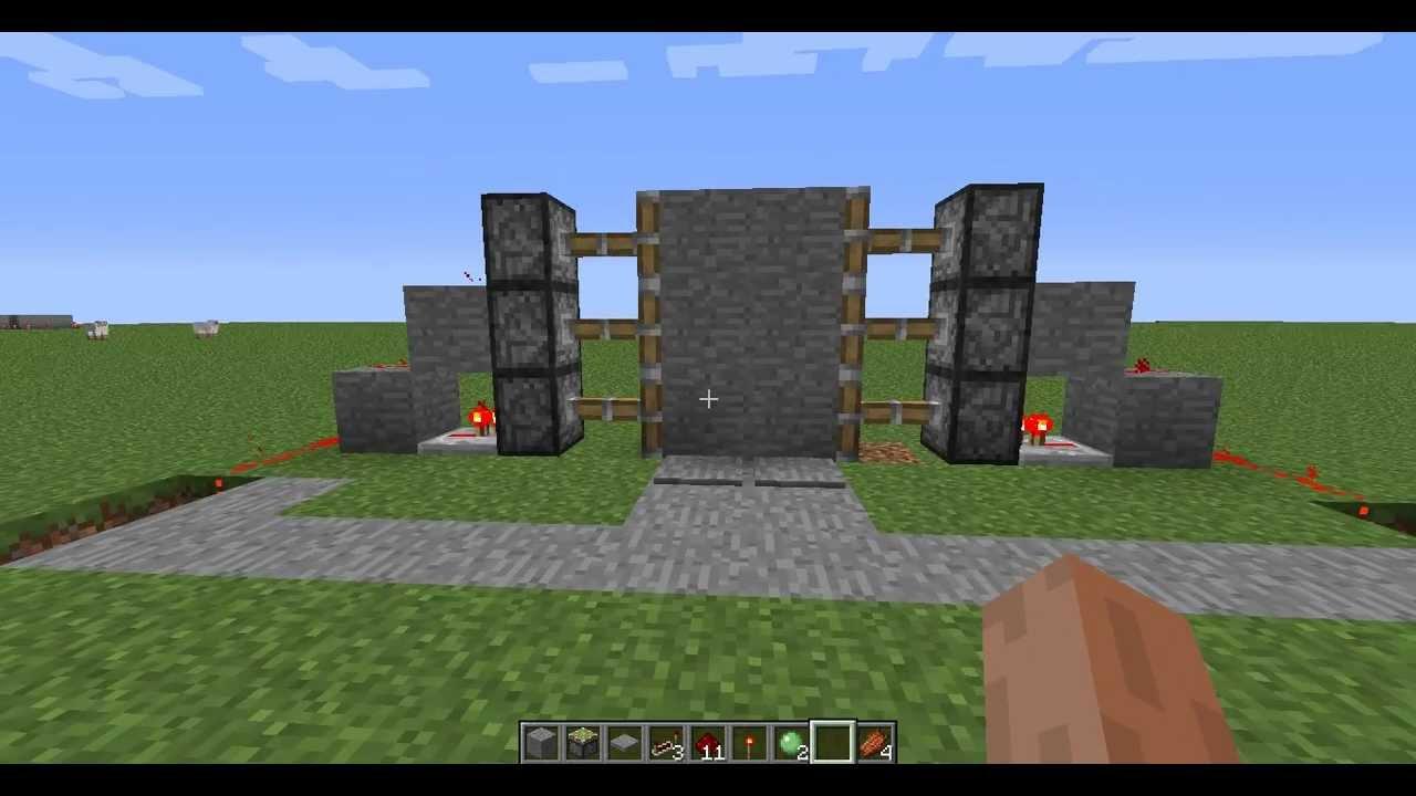 Механическая дверь - Как ее построить - Minecraft 1.4.7 - YouTube