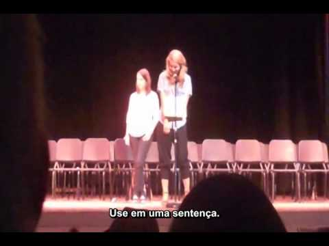 "Dianna Agron participa do ""Spelling Bee For Cheaters"" - Round Final - Parte 2 (legendado)"