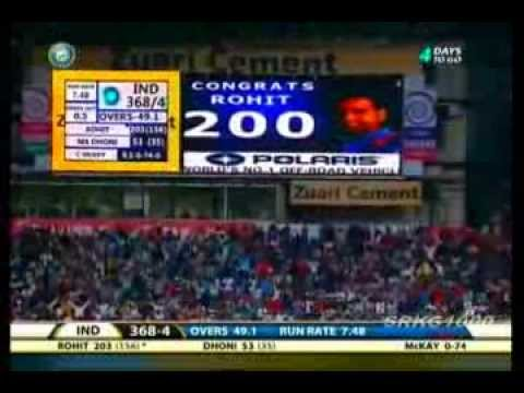 Rohit Sharma 209 Runs Inning Against AUS IN 7th ODI   YouTube