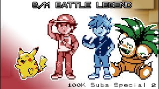 Pokemon Sun & Moon - Battle! Legend Red & Blue (100k Subscriber Special #2!)