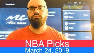 NBA Picks (3-24-19) | Basketball Sports Betting Expert Predictions Video | Vegas | March 24, 2019