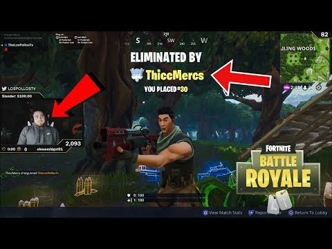 LosPollos Getting So Frustrated With Stream Snipers (Fortnite Highlights #41) thumbnail