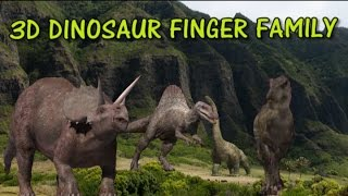Finger Family Dinosaur 3d Family Nursery Rhyme | Funny Finger Family Songs For Children In 3D