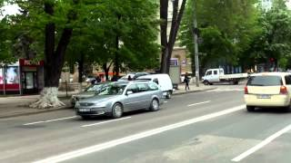 Pe bulevardul central din Chișinău e haos ca în codru