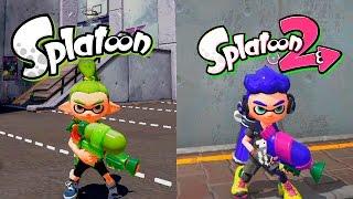 Splatoon VS Splatoon 2 | Graphics Evolution | Comparativa