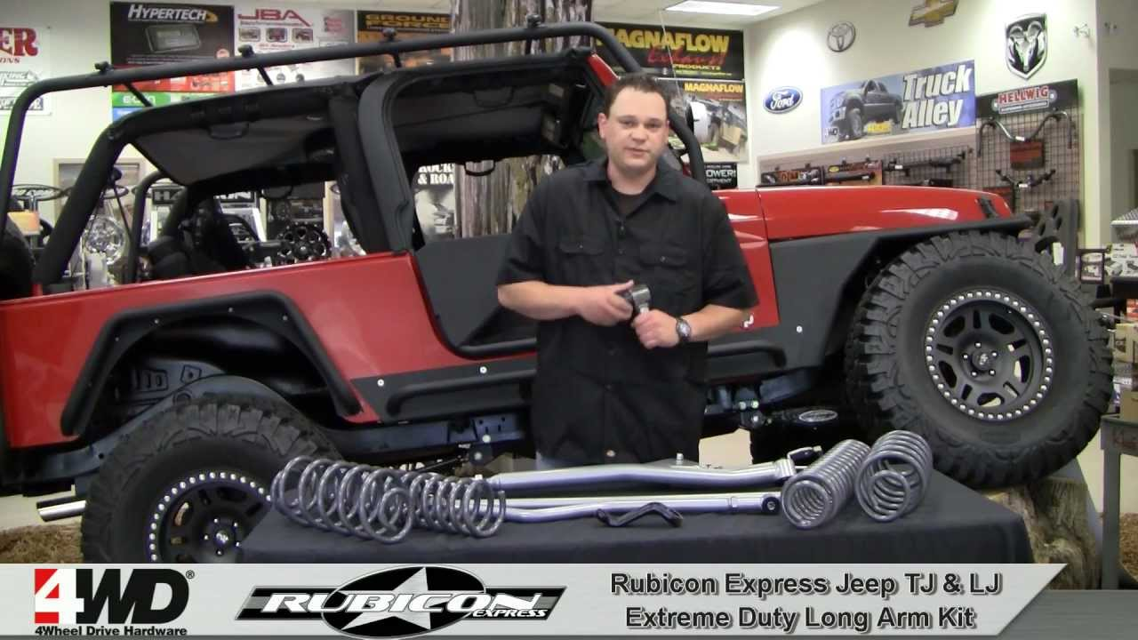 Jeep 3.5 Lift >> Rubicon Express - 3.5, 4.5 & 5.5 inch Extreme Duty Long Arm Kit for TJ & LJ - YouTube