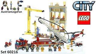 Lego City 60216 Downtown Fire Brigade - Lego Speed Build Review