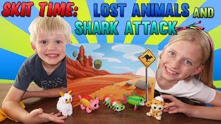 Lost Llama & Shark Escape Skit Toy Playtime with Puzoodles