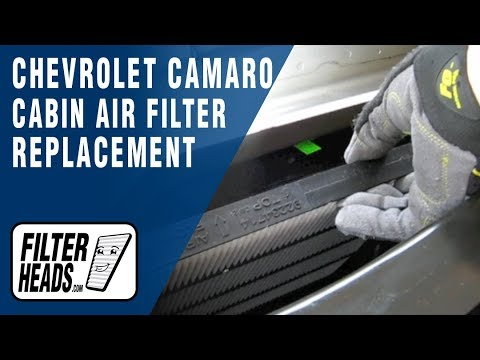 cabin air filter replacement- Chevrolet Camaro