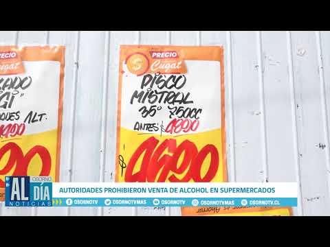 AUTORIDADES DE SALUD PROHIBIERON VENTA DE ALCOHOL EN SUPERMERCADOS