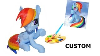 Rainbow Dash paint. how to custom rainbow dash with acrylic paint HD